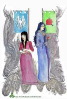 Snow White and her Stepmother by Akhilla