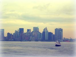 Lower Manhattan from Staten Island Ferry by SeiMissTake