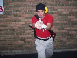 Team Fortress 2 RED Scout Cosplay - Pistol by MasteroftheContinuum
