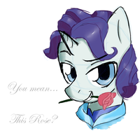 Elusive: You mean...This rose? by NolyCS