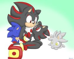 Shadow and chibis by xShadilverx