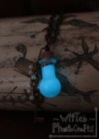 Key and Pearls Glow in the Dark Necklace-FOR SALE! by WitTea