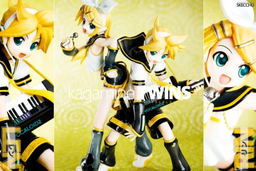 GSC Kagamine Rin and Len by Skecchu