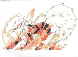 Arcanine by RaineyReaper