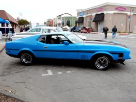 blue 1972 Mustang Mach 1 by Partywave