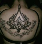 Assassin's Creed Back Tattoo by KeraValentine