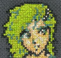 Rydia by GamingBitCrossStitch