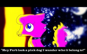 The Pink Dog by LoveandWar9000