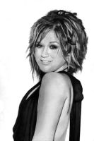 Kelly Clarkson black+white by jlim51