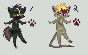 Anthro Adoptables - 5 by AliceTheHunted