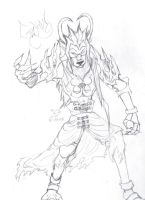 Demon lineart: Galion Beast V1 by way2thedawn