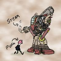 Steampunk Robot - with color by cinfa
