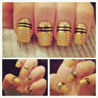Nailssss 52: Special Doctor Who Theme 2 by yummehMOO