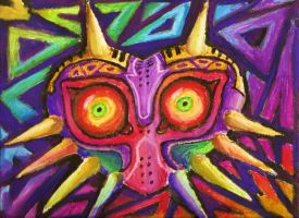 Majora's Mask - Chaos of Color by x-DragonSoul-x