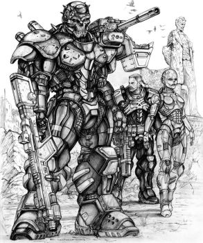 RIFTSEnforcer and Infiltrator borg with CS Deadboy by ChuckWalton