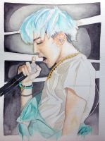 G-Dragon -- BIGBANG Painting Fanart 3 by antuyetlai
