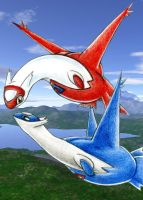 Latias and Latios by Jackie-Blaire