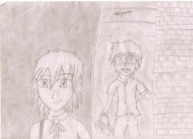 Pip and Seras at school by MageBunnyTheGreat