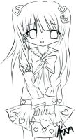 Chibi Lineart xD by kimdung