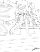 Leap of Faith - LINEART by jadeedge