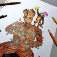 Let's make you decorated, Groot! by NKhope