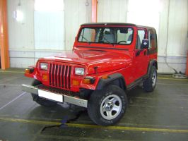 Jeep Wrangler Red by CmacSTI