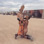 Golden nudes at burning man, 1 by TheMaleNudeStock