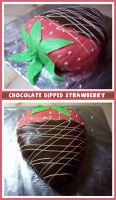 Chocolate Strawberry Cake by Saiyan-Silk