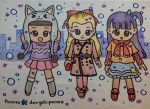 Kai and her friends with winter clothing by dengekipororo