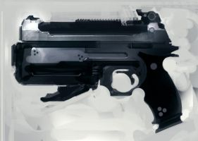 Speed painted hand cannon by torvenius