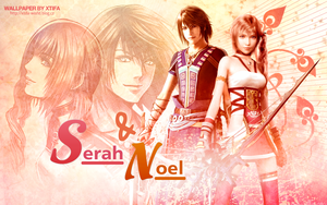 Noel and Serah wallpaper by ladylucienne