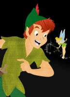 Peter Pan and Tink by Xx-rawr-xX