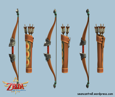 LOZ: Skyward Sword - Bow / Quiver by seancantrell