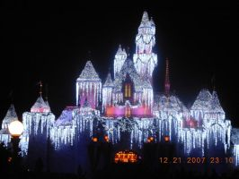 Sleeping Beauty Castle Xmas by KayJay777