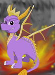 Spyro The Dragon - First Attempt At Spyro Art by Destiny-The-Hedgimon