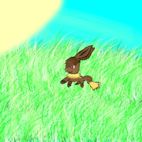 Eevee in the sun by pokebulba