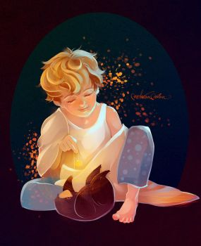 Newt with Niffler by MarinaMichkina