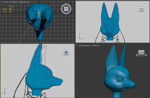 3D Lucario Progress Shot 01 by Chibi-Pika