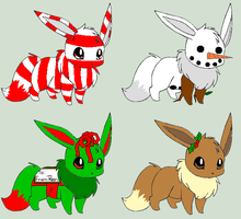 Christmas Eevee Adopts 2 [Open 1 Left] by ReinFalling