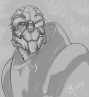 garrus sketch by dg-doodles