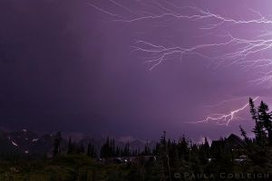 Lightning at Paradise by La-Vita-a-Bella