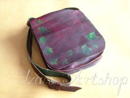 Magical Ivy Leather Messenger Bag by izasartshop