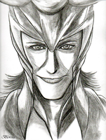 Loki, God of Mischief by Blorosa