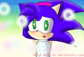 Sonia the hedgehog in Sonic X by Nala6098