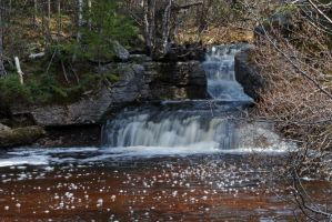 Sand Brook Falls 3 by LucieG-Stock