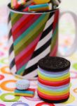 Rainbow Marshmallow Fondant Oreo Cookies by theresahelmer