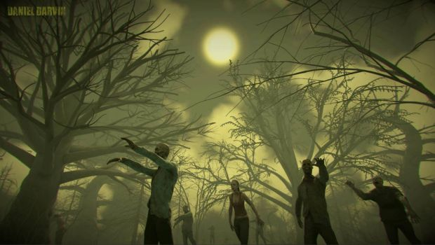 Zombie in Forest by DanDarvin
