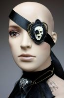 Skull cameo eye patch by Pinkabsinthe