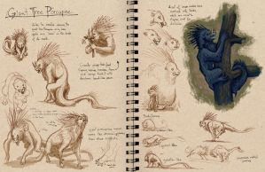 Digital Sketchbook critter dev by emla