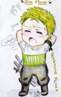 Chibi Zoro [comission] by sakura-streetfighter